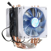 92mm 3 Pin Blue LED Cobre Refrigerador de la CPU Ventilador Ventilador para Intel LGA775 / 1156/1155 AMD AM2 / 2 + / 3