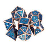 Dados polihédricos de 7 piezas dados de metal múltiple de varios lados Juego de rol que juega a los gadgets