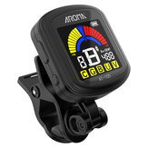Aroma AT-105 Guitare Rechargeable Clip-on Tuner Écran Couleur pour Guitare Chromatique Basse Ukulélé Violon