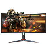AOC CU34G2X 34-Inch Curved Gaming Monitor Frameless Immersive Bring Fish Screen 144Hz Free-Sync 1ms 2K 3440x1440 Solution 21:9 UltraWide QHD LED Source 1500R Curvature HDR10 Height Adjustable