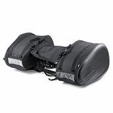 Tas Sadel Sepeda Motor Tahan Air & debu-bukti Tas Helm PU Untuk Perjalanan