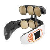 6/3 hoved USB trådløs nakke Elektrisk massager Cervikal infrarød opvarmning Vibrationsmassage