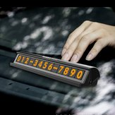 Fluorescent Black Silver Verstecktes Auto Temporäre Parking Phone Number Card Plate