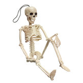 Creepy Human Skeleton Cráneo Figurine Scary Halloween Skeleton Prop Decoraciones del partido