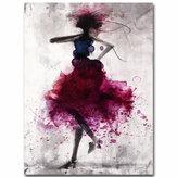 ModaCzerwonyGirlMinimalistycznasztukaabstrakcyjna Obrazy olejne na płótnie oprawione / Unframed