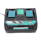 Fast Dual Battery Charger + USB Port Replacement For MAKITA DC18RD 14.4-18V 4A