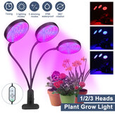 1/2/3 Tête Plant Grow Light Head LED Lampe Hydroponique Serre Jardin 360 ° Flexible Intérieur Dimmable