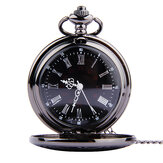 Vintage Retro Roman Arabic Number Time Display Quartz Chain Pocket Watch