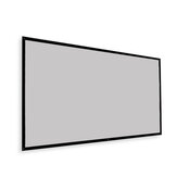 Thinyou Projector Screen Simple Portable Curtain Grey Plastic Fabric Fiber HD for Movie 3D Home Theater Indoor Outdoor 120-Inch 16:9 Throw Ratio