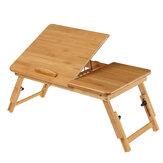 Scrivania in legno per laptop Scrivania pieghevole portatile 2 Aree separate di lavoro Divano letto Notebook Studio Tavolo da studio