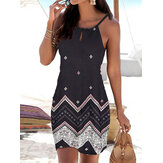 Folk Style Print Strapless Women Summer Slim Mini Dress