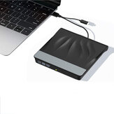External CD DVD Optical Drives USB 3.0 Type-C Portable Super Drive Burner Player for Laptop Mac Desktop Window 10/8/7/XP