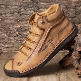 Stivaletti alla caviglia Menico da uomo con punta in gomma e cuciture in gomma Soft