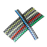 500Pcs 5 Colors 100 Each 1210 LED Diode Assortment SMD LED Diode Kit Green/RED/White/Blue/Yellow