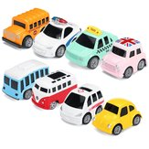 Nordic Traffic Parking Scene Map Pull Back Mini Toy Coche Modelo Educativo Niños Cochetoon Juguetes Regalos