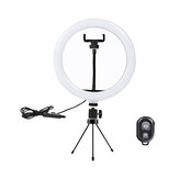 10 inch LED Ring Light 3 Modes 10 Brightness Adjustable bluetooth Selfie Ring Light Photography Beauty Light for Youtube Live Streaming