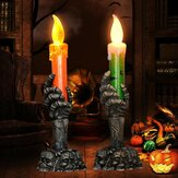 Halloween Light Flammenlose Plastikkerzen Halloween Dekoration Requisiten Ghost Light