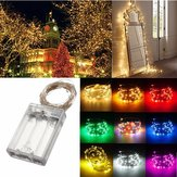 4M 40 LED Zilveren Wire Fee String Licht Batterij Powered Waterproof Xmas Party Decor