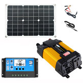 Solar Power System 18W Solar Panel 6000W Inverter 30A Controller Kit Solar Panel Battery Charger