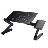 Adjustable Folding Notebook Laptop Stand Desk Table USB Cooling Pad 1 Fans Sofa Bed Tray Bracket with Mouse Board