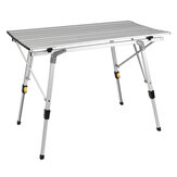 Folding Aluminum Table 90cm/120cm Mobile Retractable Lift Table Portable Outdoor Leisure Table for Camping Barbecue
