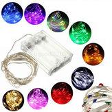 3m 30 LED bateria operado fio de prata multi-color casamento luz seqüência de fadas natal decoração árvore 4.5v