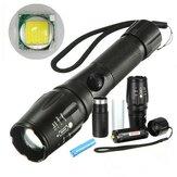 Elfeland  T6 2000lumens 5Modes Zoomable LED Flashlightt With 18650