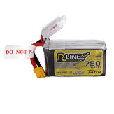 TATTU R-LINE 1.0 14.8V 750mAh 95C 4S Lipo Battery XT30 Plug for 100mm to 180mm FPV Race Drone Quadcopter