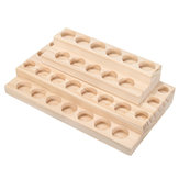 30 Slots Wooden Bottles Stand Organizer Storage Board for Essential Oil Aromatherapy
