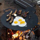 Naturehike extérieur 5.3KG grande poêle de cuisson Camping Barbecue pique-nique en fonte ustensiles de cuisine friture cuisson uniforme chauffage barbecue outil