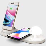 Bakeyy Mushroom QI Wireless Charger With Bedside Night Lamp 10W Wirless Charging Pad for iPhone 12 Pro Max POCO X3 NFC for Samsung Galaxy Note S20 ultra for Mi 10