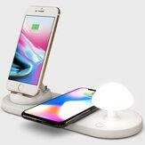 Chargeur sans fil Bakeyy Mushroom QI avec lampe de nuit de chevet 10W Pad de charge sans fil pour iPhone 12 Pro Max POCO X3 NFC pour Samsung Galaxy Note S20 ultra pour Mi 10