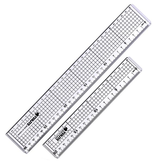 Yujie 20CM And 30cm Cutting Straight Ruler Anti-Cutting Rules Regular Rules Collage Rules 2 in 1