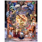 DIY 5D Diamond Painting Zodiac Animal Art Craft Kit Handmade Embroidery Cross Stitch Needlework Home Wall Decorations Gifts