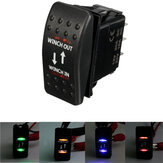 12v 7 pinos 20a guincho in / out on-off-on arb roqueiro interruptor barco carro 4 cores LED