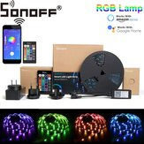 SONOFF L1 Dimmable IP65 2M 5M Smart WiFi RGB LED Kit de bande lumineuse fonctionne avec Amazon Alexa Google Home Décorations de Noël Dégagement Lumières de Noël