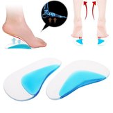 1 Pair Foot Care Cushion Correction Gel Arch Support Insoles Orthopedic Foot Pedicure Tools