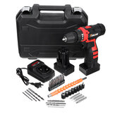 25 V Drill 2 Speed Electric Cordless Drill Driver with Bits Set Batteries