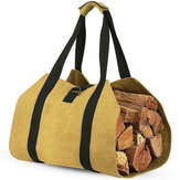 Log Carrier Wood Carrying Bag Brandhout Carrier voor Open Haard 16oz Waxed Canvas