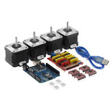 TWO TREES® CNC Shield + UNO R3 Board + 4x A4988 Stepper Motor Driver + 4x 4401 Stepper Motor Kit للطابعة ثلاثية الأبعاد