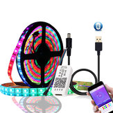 DC5V 1M 2M WS2812B 5050 Bluetooth USB APP Kontroll RGB Individuelt adresserbar LED Strip Light Kit Julepynt Clearance Christmas Lights