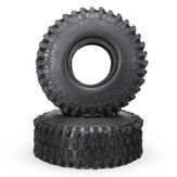 2PCS 1.9 Inch 120mm Diameter Crawler Rc Car Tires Tyre for 1/10 TRX-4 SCX10 90046 D90