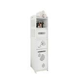 Bathroom Storage Cabinet Towel Shower Gel Shampoo Rack Toilet Paper Storage Holder Organizer Shelf with Tissue Box