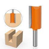 Drillpro 8mm Shank Straight Long Blade Flush Trimmer Holzfräser Bit Industrial Grade Two Flute Holzbearbeitungsfräser