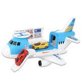 3/7 Pcs Simulação Trilha Inércia Avião Avião de passageiros de tamanho grande Brinquedo modelo de avião infantil para aniversários de crianças Presente de Natal