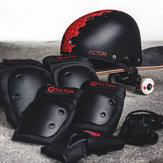 ACTON 7Pcs Cycling Helmet Sports Protective Gear Shockproof Elbow Knee Hand Pads Safety Suit From