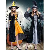 Trang phục Halloween Witch Cosplay Three Pieces Party Women Quần áo Vai