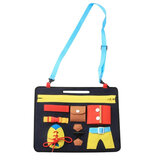 Baby Toy Felt Board Children Preschool Education Basic Skills Learning Toy Learn To Wear Clothes Buckle Educational Toy 1-5 Years Old