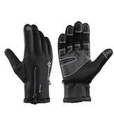 ROCKBROS Luvas térmicas para bicicleta de ciclismo Warmproof Winter Warm Glove Antislip Waterproof Sports Glove
