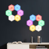 DIY Modular Touch RGB Dimmable Wall Lights Timing Remote Control Hexagonal LED Night Light